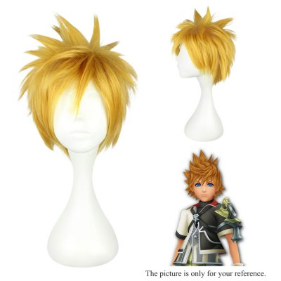 Mcoser Short Side Bang Fluffy Anime Wig Cosplay for Ventus mcoser neat bang straight short bunches anime wig