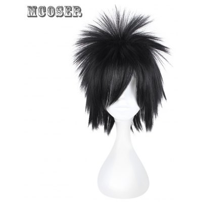 Mcoser Centre Parting Fluffy Short Anime Wig