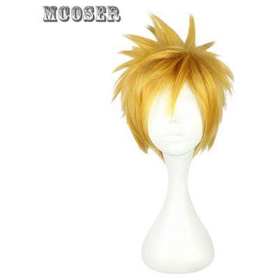 Mcoser Short Side Bang Fluffy Anime Wig Cosplay for Ventus