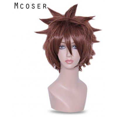 Mcoser Layered Fluffy Side Bang Short Hair Anime Wig