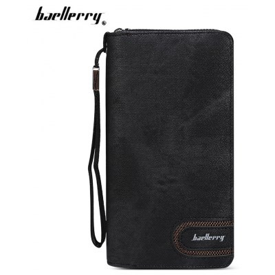 Baellerry PU Leather Card Holder Long Clutch Wallet for Men