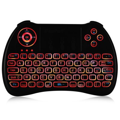 iPazzPort KP - 810 - 21Q Mini Keyboard with BacklightAir Mouse<br>iPazzPort KP - 810 - 21Q Mini Keyboard with Backlight<br><br>Brand: iPazzPort<br>Package Contents: 1 x iPazzPort KP - 810 - 21Q Mini Keyboard, 1 x USB Cable, 1 x USB Receiver, 1 x English User Manual<br>Package Size(L x W x H): 17.00 x 9.50 x 2.00 cm / 6.69 x 3.74 x 0.79 inches<br>Package weight: 0.1520 kg<br>Product Size(L x W x H): 13.00 x 9.00 x 1.50 cm / 5.12 x 3.54 x 0.59 inches<br>Product weight: 0.1010 kg<br>Type: 2.4GHz Wireless<br>Wi-Fi Range: 10m