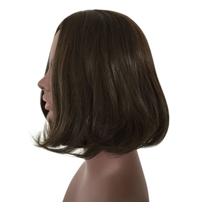 Short Tail Adduction Centre Parting Synthetic Wig for WomenSynthetic Wigs<br>Short Tail Adduction Centre Parting Synthetic Wig for Women<br><br>Advantage: Very Soft and Fashionable<br>Bang Type: Middle<br>Cap Size: Adjustable<br>Gender: Female<br>Lace Wigs Type: None Lace Wigs<br>Length: Short<br>Length Size(CM): 27<br>Length Size(Inch): 10.63<br>Material: Synthetic High Temperature Hair<br>Net Type: Buckle Net<br>Package Contents: 1 x Wig<br>Package size (L x W x H): 26.00 x 18.00 x 5.00 cm / 10.24 x 7.09 x 1.97 inches<br>Package weight: 0.1450 kg<br>Product size (L x W x H): 27.00 x 5.00 x 3.00 cm / 10.63 x 1.97 x 1.18 inches<br>Product weight: 0.1200 kg<br>Style: Wavy<br>Type: Full Wigs