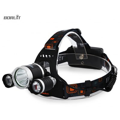 BORUiT Outdoor Lighting Rechargeable LED Head Lamp