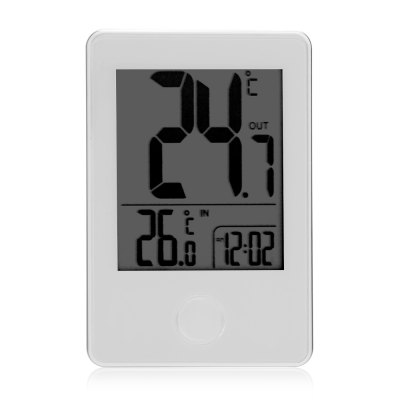Remote Wireless Digital Indoor Outdoor ThermometerClocks<br>Remote Wireless Digital Indoor Outdoor Thermometer<br><br>Package Contents: 1 x Transmitter, 1 x Receiver, 1 x English User Manual<br>Package Size(L x W x H): 10.50 x 7.00 x 6.00 cm / 4.13 x 2.76 x 2.36 inches<br>Package weight: 0.1300 kg<br>Product weight: 0.0570 kg
