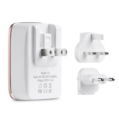 HOCO C4 Worldwide Travel Charger Adapter 2.4A Dual USB