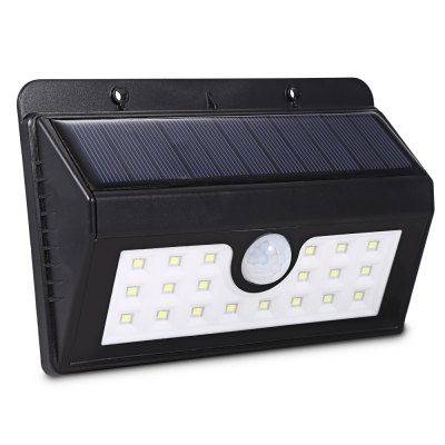 20 LEDs Solar Human Body Induction Garden Lamp