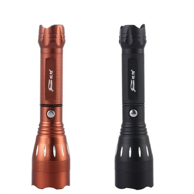 JIAOSUNLED Outdoor FlashlightLED Flashlights<br>JIAOSUNLED Outdoor Flashlight<br><br>Bulb: LED<br>Outdoor Activity: Camp,Diver,Fishing<br>Package Contents: 1 x Flashlight<br>Package Size(L x W x H): 20.00 x 6.00 x 6.00 cm / 7.87 x 2.36 x 2.36 inches<br>Package weight: 0.1760 kg<br>Power Source: Battery<br>Product Size(L x W x H): 18.20 x 4.40 x 4.40 cm / 7.17 x 1.73 x 1.73 inches<br>Product weight: 0.1540 kg<br>Waterproof: Yes