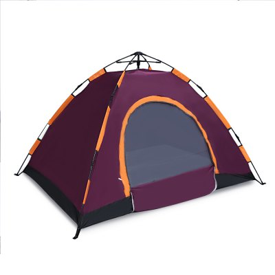 CLEYE Automatic Instant Setup 2 - 3 Person Camping TentTent<br>CLEYE Automatic Instant Setup 2 - 3 Person Camping Tent<br><br>Bottom Waterproof Index: 2000-3000 mm<br>Layers: Single<br>Outside Tent Waterproof Index: 1500-2000 mm<br>Package Contents: 1 x Camping Tent, 4 x Tent Peg, 1 x Pouch<br>Package Size(L x W x H): 67.00 x 19.00 x 19.00 cm / 26.38 x 7.48 x 7.48 inches<br>Package weight: 2.1400 kg<br>Pole Material: Fiberglass<br>Product weight: 2.0450 kg<br>Season: Three-season Tent