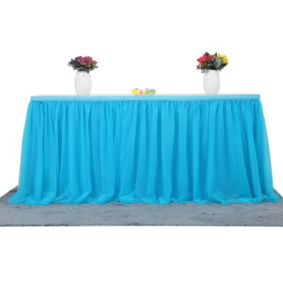 Tutu Tulle Table Skirt Cloth for Party Wedding Home DecorParty Supplies<br>Tutu Tulle Table Skirt Cloth for Party Wedding Home Decor<br><br>Package Contents: 1 x Table Cloth<br>Package Size(L x W x H): 42.00 x 32.00 x 10.00 cm / 16.54 x 12.6 x 3.94 inches<br>Package weight: 0.3600 kg<br>Product Size(L x W x H): 183.00 x 77.00 x 0.50 cm / 72.05 x 30.31 x 0.2 inches<br>Product weight: 0.3200 kg