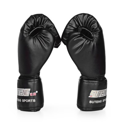 SUTENG 1 Pair PU Boxing Fighting Sandbag GlovesBoxing<br>SUTENG 1 Pair PU Boxing Fighting Sandbag Gloves<br><br>Color: Black,Blue,Red<br>Material: Foam Rubber, Leather<br>Package Content: 1 x SUTEN 1 Pair PU Boxing Kickboxing Training Fighting Sandbag Gloves for Fighter<br>Package size: 39.00 x 22.00 x 10.00 cm / 15.35 x 8.66 x 3.94 inches<br>Package weight: 0.2760 kg<br>Product size: 27.00 x 16.00 x 4.00 cm / 10.63 x 6.3 x 1.57 inches<br>Product weight: 0.2440 kg<br>Type: Wrist Support, Finger Guard