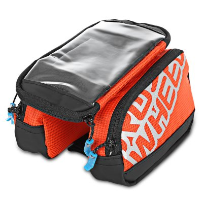 ROSWHEEL 121273 1L Touchable Bike Front Tube BagBike Bags<br>ROSWHEEL 121273 1L Touchable Bike Front Tube Bag<br><br>Package Contents: 1 x Bike Front Tube Phone Bag<br>Package Size(L x W x H): 21.00 x 18.00 x 8.00 cm / 8.27 x 7.09 x 3.15 inches<br>Package weight: 0.2370 kg<br>Product weight: 0.2070 kg