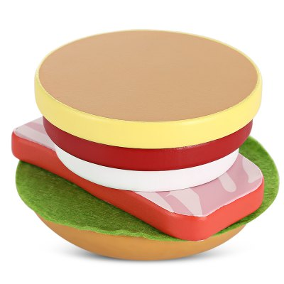 Hamburger Shape Wooden Sliced ToyPretend Play<br>Hamburger Shape Wooden Sliced Toy<br><br>Age Range: &gt; 3 years old<br>Material: Wood<br>Package Contents: 1 x Wooden Sliced Toy<br>Package Size(L x W x H): 10.00 x 10.00 x 6.00 cm / 3.94 x 3.94 x 2.36 inches<br>Package weight: 0.1840 kg