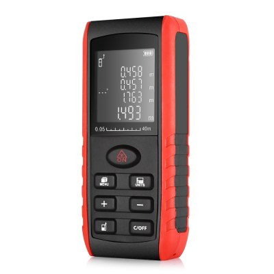 High Accuracy 40M Digital Laser Distance MeterLaser Rangefinder, Electronic Distance Meter<br>High Accuracy 40M Digital Laser Distance Meter<br><br>Package Contents: 1 x Laser Distance Meter, 1 x English User Manual, 1 x Anti-lost rope<br>Package Size(L x W x H): 18.00 x 13.00 x 4.00 cm / 7.09 x 5.12 x 1.57 inches<br>Package weight: 0.2020 kg<br>Product Size(L x W x H): 12.00 x 5.50 x 2.50 cm / 4.72 x 2.17 x 0.98 inches<br>Product weight: 0.1040 kg