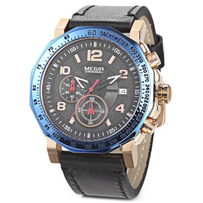 MEGIR ML2048 Male Quartz WatchMens Watches<br>MEGIR ML2048 Male Quartz Watch<br><br>Band Length: 8.31 inch<br>Band Material Type: Leather<br>Band Width: 24mm<br>Case material: Alloy<br>Case Shape: Round<br>Case Thickness: 0.47 inch<br>Clasp type: Pin Buckle<br>Dial Diameter: 1.97 inch<br>Dial Display: Analog<br>Dial Window Material Type: Hardlex<br>Feature: Luminous, Date, Chronograph<br>Gender: Men<br>Movement: Quartz<br>Package Contents: 1 x Watch<br>Package Size(L x W x H): 7.50 x 11.80 x 6.80 cm / 2.95 x 4.65 x 2.68 inches<br>Package weight: 0.2090 kg<br>Product Size(L x W x H): 26.50 x 5.40 x 1.20 cm / 10.43 x 2.13 x 0.47 inches<br>Product weight: 0.0840 kg<br>Style: Business<br>Water Resistance Depth: 30m