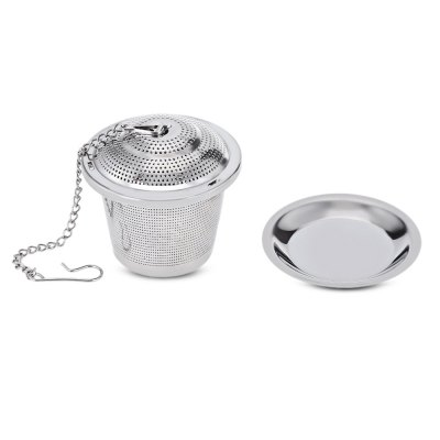 Stainless Steel Tea Infuser Strainer with Chain Pad