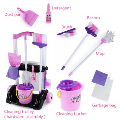 Children Kitchen Cleaning Trolley Toys SuitPretend Play<br>Children Kitchen Cleaning Trolley Toys Suit<br><br>Package Contents: 1 x Set of Cleaning Trolley Toys<br>Package Size(L x W x H): 25.00 x 40.00 x 60.00 cm / 9.84 x 15.75 x 23.62 inches<br>Package weight: 1.8400 kg<br>Product Size(L x W x H): 19.00 x 38.00 x 53.00 cm / 7.48 x 14.96 x 20.87 inches<br>Product weight: 1.8000 kg