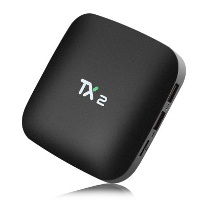 TX2 - R2 TV Box RK3229TV Box<br>TX2 - R2 TV Box RK3229<br><br>Audio format: APE, WAV, TrueHD, OGA, MP3, WMA, HD, DDP, FLAC, DTS, AAC, AC3<br>Bluetooth: Bluetooth2.0<br>Core: 1.5GHz<br>CPU: RK3229, ARM Cortex-A7<br>Decoder Format: Xvid/DivX3/4/5/6, RealVideo8/9/10, HD MPEG1/2/4, HD AVC/VC-1, H.265/AVC, H.264/AVC, AVS<br>GPU: Mali400MP2<br>HDMI Version: 2.0<br>Interface: USB2.0, TF card, SPDIF, LAN, AV, DC 5V, HDMI<br>Language: English,French,Germany,Multi-language<br>Max. Extended Capacity: 128G<br>Model: TX2 - R2<br>Package Contents: 1 x TX2 - R2 TV Box, 1 x Remote Controller, 1 x Charger Adapter, 1 x HDMI Cable<br>Package size (L x W x H): 18.50 x 11.50 x 6.50 cm / 7.28 x 4.53 x 2.56 inches<br>Package weight: 0.3940 kg<br>Photo Format: JPEG, PNG, TIFF, BMP<br>Power Adapter Input: 100-240V / 50-60Hz<br>Power Adapter Output: 5V 2A<br>Power Supply: Charge Adapter<br>Power Type: External Power Adapter Mode<br>Processor: RK3229<br>Product size (L x W x H): 10.50 x 10.50 x 1.00 cm / 4.13 x 4.13 x 0.39 inches<br>Product weight: 0.1230 kg<br>RAM: 1G RAM<br>RAM Type: DDR3<br>Remote Controller Battery: 2 x 3V AAA battery ( not included )<br>ROM: 16G<br>System: Android 6.0<br>System Bit: 32Bit<br>Type: TV Box<br>Video format: 4K x 2K, VC-1, RM, MPEG2, MP4, MOV, MKV, ISO, MPEG1, H.265, H.264, AVS, WMV<br>WIFI: 802.11b/g/n