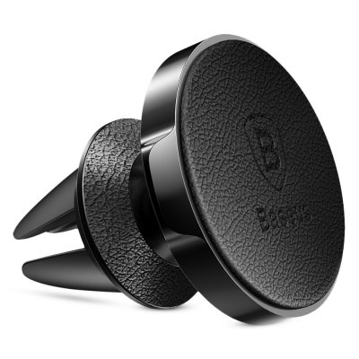 Baseus Small Ears Series Magnetic Holder ( Air Outlet Type )Stands &amp; Holders<br>Baseus Small Ears Series Magnetic Holder ( Air Outlet Type )<br><br>Package Contents: 1 x Magnetic Bracket, 1 x PU Leather Magnetic Iron<br>Package Size(L x W x H): 17.40 x 7.00 x 4.10 cm / 6.85 x 2.76 x 1.61 inches<br>Package weight: 0.1100 kg<br>Product Size(L x W x H): 4.20 x 4.10 x 3.60 cm / 1.65 x 1.61 x 1.42 inches<br>Product weight: 0.0480 kg