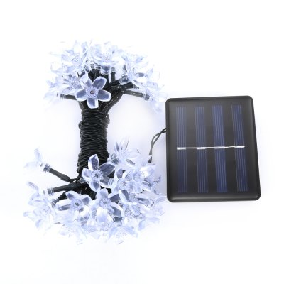 Solar Powered Waterproof 50 LEDs Flower String LampLED Strips<br>Solar Powered Waterproof 50 LEDs Flower String Lamp<br><br>Package Contents: 1 x String Lamp with Solar Panel, 1 x Anchor Spike<br>Package Size(L x W x H): 13.50 x 10.00 x 9.00 cm / 5.31 x 3.94 x 3.54 inches<br>Package weight: 0.2910 kg<br>Product weight: 0.2090 kg