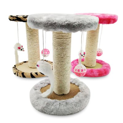 Single Platform Kitten Small Cat Tree with Scratching PostsCat Grooming<br>Single Platform Kitten Small Cat Tree with Scratching Posts<br><br>Package Contents: 1 x Cat Tree<br>Package Size(L x W x H): 23.00 x 18.00 x 10.00 cm / 9.06 x 7.09 x 3.94 inches<br>Package weight: 0.6500 kg<br>Product weight: 0.6220 kg