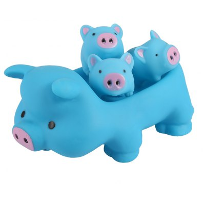 Cute Pig Floating Paddle Bath Tub Toy Suit for Baby Children