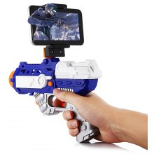 Homkey AR - 81 Bluetooth 4.2 AR Game Gun Pistol with Smart Phone Stand
