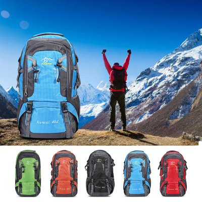 Guapabien Outdoor Hiking Mountaineering Camping BackpackBackpacks<br>Guapabien Outdoor Hiking Mountaineering Camping Backpack<br><br>Bag Capacity: 40L<br>Features: Water Resistance<br>For: Camping, Climbing, Cycling, Hiking, Traveling<br>Material: Nylon<br>Package Contents: 1 x Backpack<br>Package size (L x W x H): 35.00 x 6.00 x 26.00 cm / 13.78 x 2.36 x 10.24 inches<br>Package weight: 0.7900 kg<br>Product size (L x W x H): 30.00 x 16.00 x 53.00 cm / 11.81 x 6.3 x 20.87 inches<br>Product weight: 0.7600 kg<br>Strap Length: 43cm<br>Type: Backpack