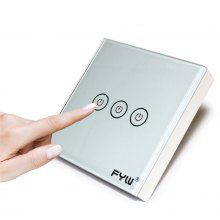 FYW Home Touch Remote Switch 3 Gang Intelligent Control Wall On - off Home Office Supplies