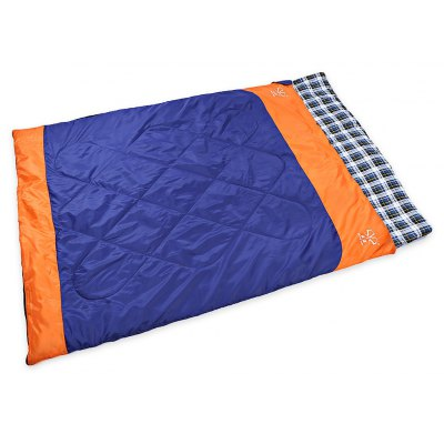 Double Unzipped Envelope Sleeping Bag for Outdoor Camping