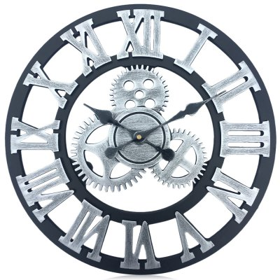 17.7 Inch Oversized 3D Decorative Wall Clock Art Gear Design
