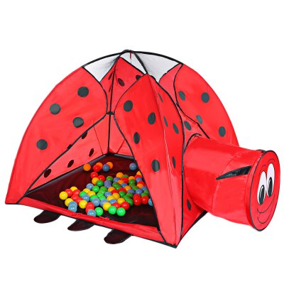 Indoor Playhouse Ladybird Pattern Kid Toy Tent