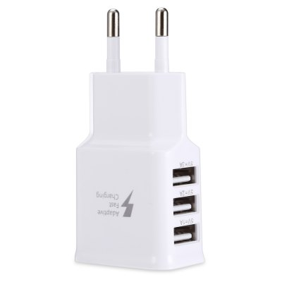 2A 3 USB Ports Travel Charger Adapter