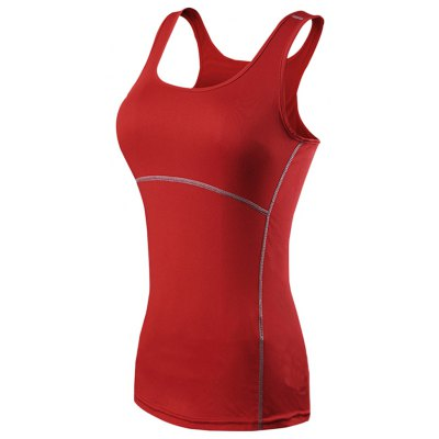 Scoop Neck Sleeveless Quick-dry Women Sporting Tank Top