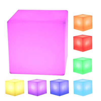 LED Cube Rechargeable Cordless Decorative Light / Stool