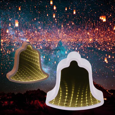 Bell Shaped LED Tunnel Lamp Infinity Mirror Light