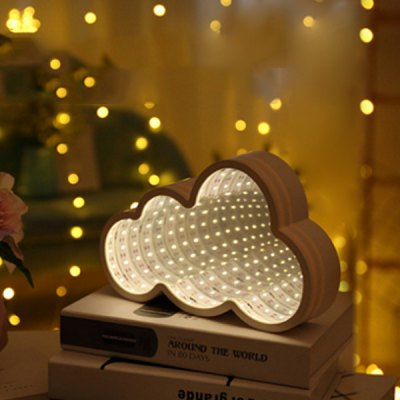 Cloud Shaped LED Tunnel Lamp Infinity Mirror Light