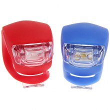 High Quality 2pcs Novel Frog LED Bicycle Light Rear Tail Flashing (Blue and Red)