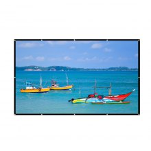 Excelvan 120 Inch 16:9 Collapsible White Portable Projector Cloth Screen With Hanging Hole For Home And Outdoor Use