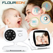 FLOUREON 3.5'' Digital Wireless Baby Monitor LCD Video Nanny Security Camera Temperature Display 2 Way Talk Night Vision Lullabies Radio