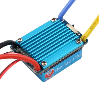 ФОТО New Rain 160A 3S Water Resistance XT60 Plug Brushed ESC for 1 / 12 1 / 14 Scale Car