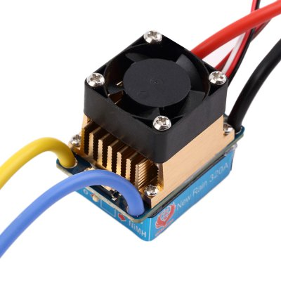 ФОТО New Rain 320A Water Resistance T Plug Brushed ESC with Fan for 1 / 10 1 / 12 1 / 14 Scale Car