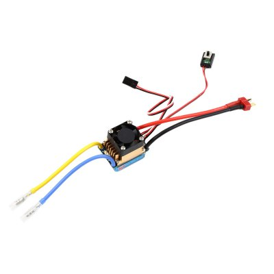 New Rain 320A Water Resistance T Plug Brushed ESC with Fan for 1 / 10 1 / 12 1 / 14 Scale Car