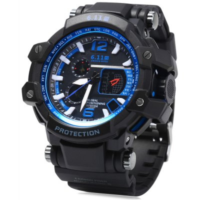 6.11 30014 Multifunctional Dual-movt Men LED Sports Watch