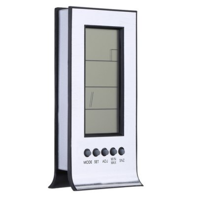 TS-H129G Weather Station ClockTemperature Instruments<br>TS-H129G Weather Station Clock<br><br>Package Contents: 1 x Weather Station Clock<br>Package size (L x W x H): 13.500 x 8.000 x 2.800 cm / 5.315 x 3.150 x 1.102 inches<br>Package weight: 0.145 kg<br>Product size (L x W x H): 11.000 x 5.500 x 2.900 cm / 4.331 x 2.165 x 1.142 inches<br>Product weight: 0.055 kg