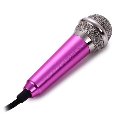 Mini Condenser Karaoke MicrophoneMicrophone<br>Mini Condenser Karaoke Microphone<br><br>Type: Wired<br>Connection: 3.5mm<br>Polar Pattern: Uni-directional<br>Frequency Range : 20 - 160000HZ<br>Impedance: Less than or Equal to 2.2k Ohm<br>Sensitivity: -47dB Plus or Minus 3dB<br>S/N: More than 60dB<br>Cable Length (cm): 171.1cm<br>Product weight: 0.025KG<br>Package weight: 0.056 KG<br>Product size (L x W x H): 180.400 x 1.500 x 1.800 cm / 71.023 x 0.591 x 0.709 inches<br>Package size (L x W x H): 15.000 x 9.300 x 2.800 cm / 5.906 x 3.661 x 1.102 inches<br>Package Contents: 1 x Mini Condenser Karaoke Microphone, 1 x Audio Cable, 1 x Protective Sheath