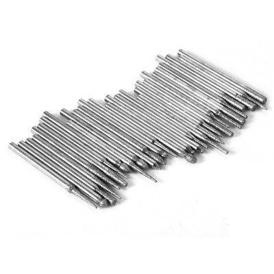 30PCS 3mm Emery Drill Bit Glass Engraving Drilling ToolCutting Tools<br>30PCS 3mm Emery Drill Bit Glass Engraving Drilling Tool<br><br>Material: Emery<br>Special function: Engraving Rotary Tool<br>Type: Bit<br>Bit Size: 3mm<br>Color: Black,Silver<br>Product weight: 0.064 kg<br>Package weight: 0.122 kg<br>Product size (L x W x H): 4.50 x 0.30 x 0.30 cm / 1.77 x 0.12 x 0.12 inches<br>Package size (L x W x H): 14.20 x 6.00 x 2.00 cm / 5.59 x 2.36 x 0.79 inches<br>Package Contents: 30 x 3mm Emery Drill Bit