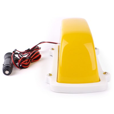 HEXIANG 12V 20W Taxi Top Roof Lamp LightOthers Car Lights<br>HEXIANG 12V 20W Taxi Top Roof Lamp Light<br><br>Brand: HEXIANG<br>Type: Marker Lamps<br>Connector: Cable Connector<br>Feature: Easy to use,Low Power Consumption<br>Light mode: Steady<br>Emitting color : Yellow,White<br>Voltage: 12V<br>Power: 20W<br>Adaptable automobile mode : Universal Cars<br>Type of lamp-house : Tungsten<br>Apply lamp position : External Lights<br>Product weight: 0.466 kg<br>Package weight: 0.599 kg<br>Product size (L x W x H): 26.800 x 9.900 x 10.000 cm / 10.551 x 3.898 x 3.937 inches<br>Package size (L x W x H): 29.000 x 12.000 x 13.000 cm / 11.417 x 4.724 x 5.118 inches<br>Package Contents: 1 x Taxi Top Light