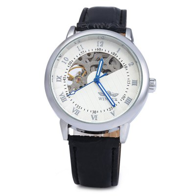Winner W032 Men Fan-shaped Hollow Mechanical WatchMens Watches<br>Winner W032 Men Fan-shaped Hollow Mechanical Watch<br><br>Brand: Winner<br>Watches categories: Male table<br>Watch style: Hollow-out<br>Style elements: Hollow Out<br>Movement type: Mechanical watch<br>Shape of the dial: Round<br>Display type: Analog<br>The bottom of the table: Gone<br>Case material: Stainless Steel<br>Band material: Leather<br>Clasp type: Pin buckle<br>Special features: Luminous<br>Water resistance : Life water resistant<br>The dial thickness: 0.9 cm /  0.35 inches<br>The dial diameter: 4.1 cm / 1.61 inches<br>The band width: 2 cm / 0.79 inches<br>Wearable length: 19 - 23 cm / 7.48 - 9.06 inches<br>Product weight: 0.052 kg<br>Package weight: 0.112 kg<br>Product size (L x W x H): 25.000 x 4.100 x 0.900 cm / 9.843 x 1.614 x 0.354 inches<br>Package size (L x W x H): 26.000 x 5.100 x 1.900 cm / 10.236 x 2.008 x 0.748 inches<br>Package Contents: 1 x Winner W032 Men Fan-shaped Hollow Mechanical Watch