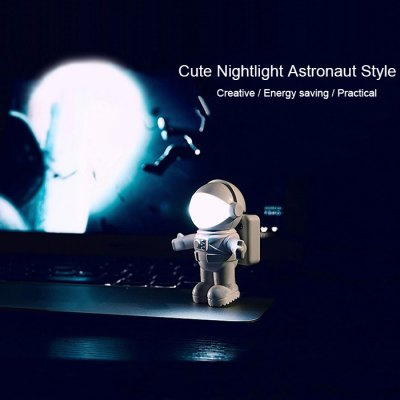 SHENGHUOYANYI USB Nightlight Astronaut Model Lamp for Night WorkClassic Toys<br>SHENGHUOYANYI USB Nightlight Astronaut Model Lamp for Night Work<br><br>Nature: Other<br>Materials: ABS<br>Appliable Crowd: Unisex<br>Specification: Other<br>Package weight: 0.140 kg<br>Package size: 8.500 x 8.500 x 12.000 cm / 3.346 x 3.346 x 4.724 inches<br>Package Contents: 1 x Night-light